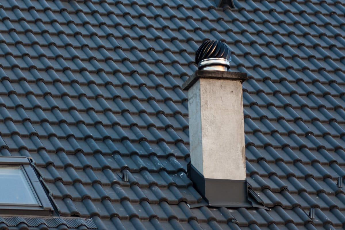 inox schouw met schoorsteenkap